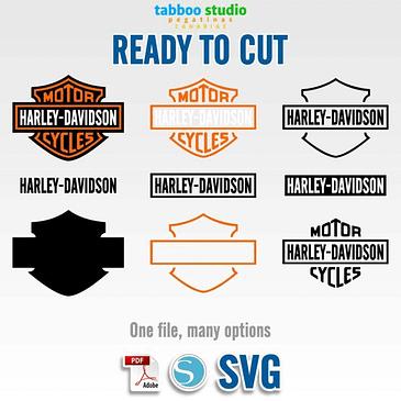 Harley Davidson logo ready to cut