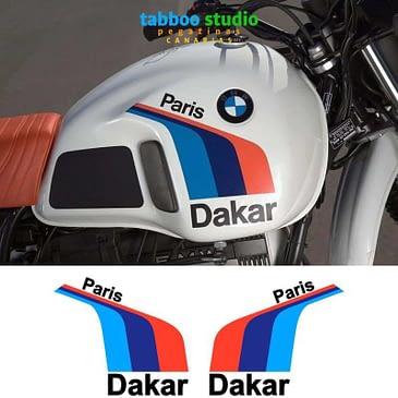 BMW R80 Paris Dakar stickers
