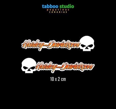 HARLEY-DAVIDSON helmet stickers_orange_reflection