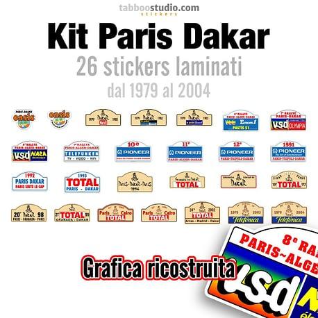 Kit adesivi Paris Dakar 1979 2004