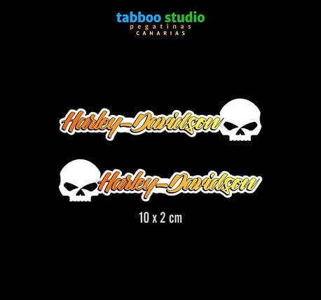 HARLEY-DAVIDSON helmet stickers_giallo-arancio_1