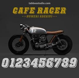 Numeri adesivi per Cafe Racer adesivi serbatoio moto