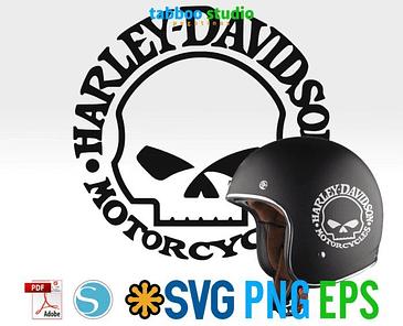 Harley Davidson skull logo ready to cut