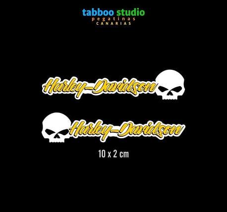 HARLEY-DAVIDSON helmet stickers_giallo_1