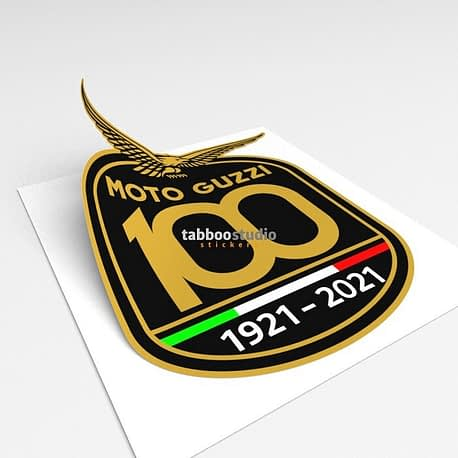 Adesivi 100 anni Moto Guzzi_3d