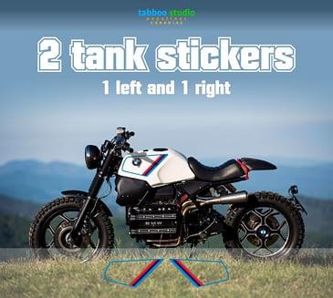BMW K100 tank stickers cafe racer bike