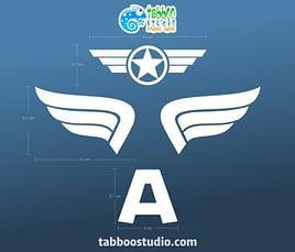 Capitan America stickers